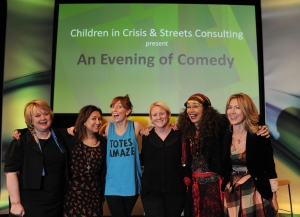Julia Streets - City Comedy event -Mrs Moneypenny Rowan Pelling, Funny Women Gaby Best and Mme Charlotte-Anne Arcarti.JPG