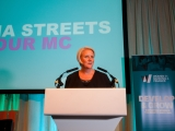 Julia Streets hosting the Women in Banking and Finance Awards for Achievement Luncheon