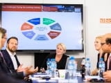 Julia Streets hosting the Dell Services Think Tank 'Banking 2020' roundtable at SIBOS 2016